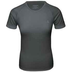Schöffel Merino Sport 1/2 arm shirt Dames, pirate black